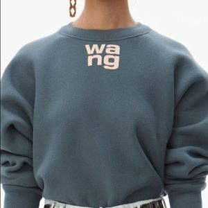 Alexander Wang Fleece Crewneck Sweatshirt